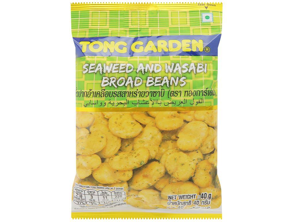 Đậu trắng vị rong biển mù tạt Tong Garden gói 40g 1