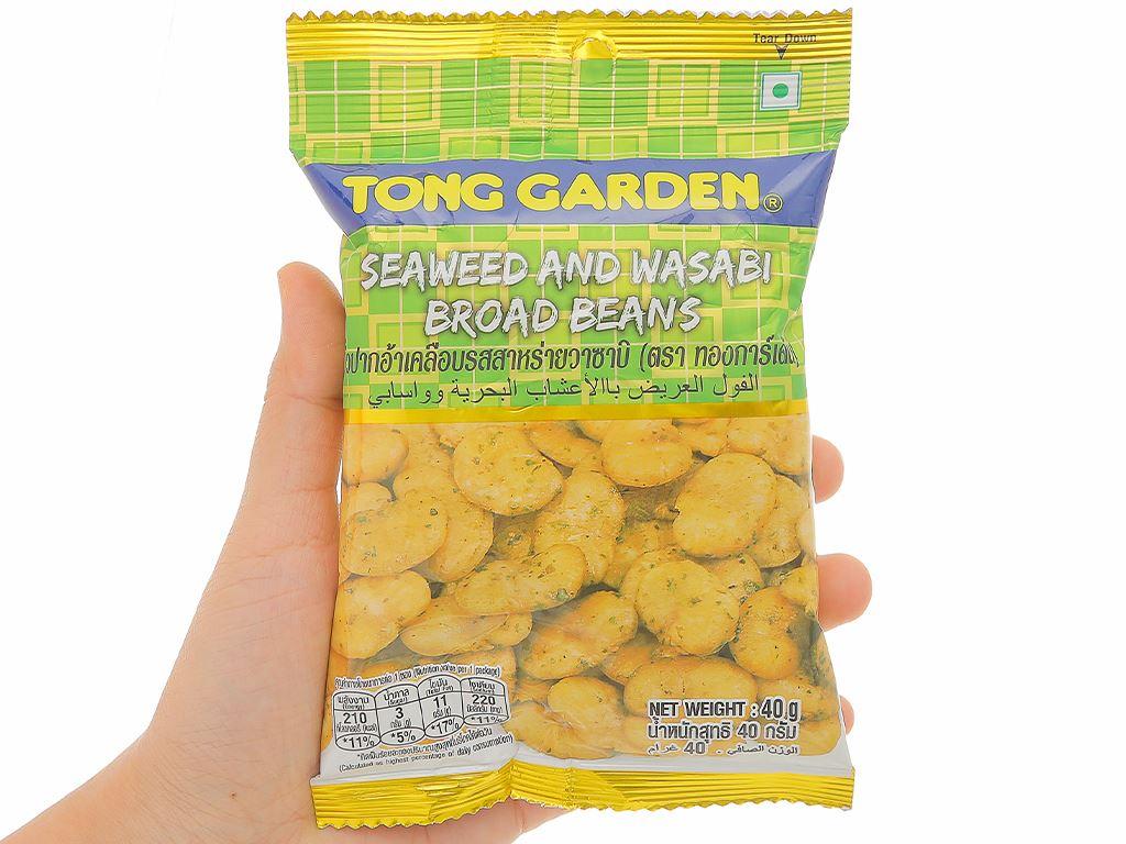 Đậu trắng vị rong biển mù tạt Tong Garden gói 40g 4