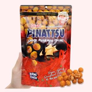 Snack nhân đậu phộng vị hải sản siêu cay Pinattsu Oishi gói 200g
