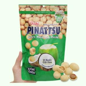 Snack nhân đậu phộng vị nước cốt dừa Pinattsu Oishi gói 200g