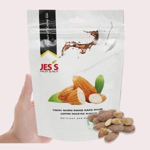 Hạt hạnh nhân rang cà phê Jes's gói 150g