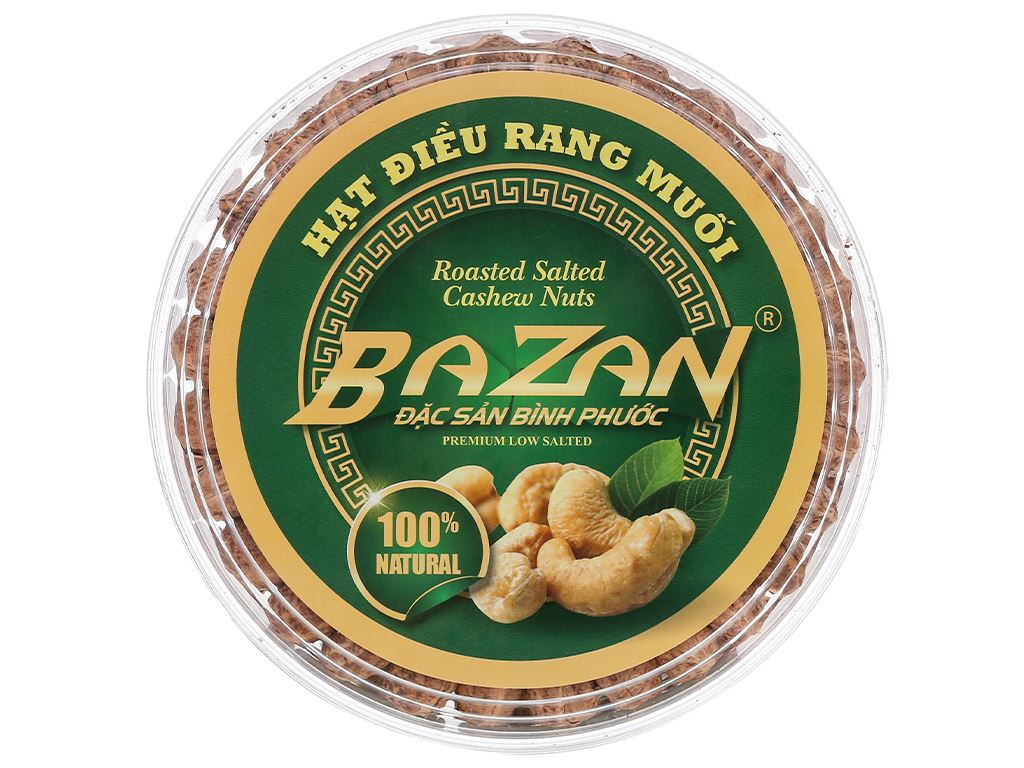 Hạt điều rang muối BaZan hộp tròn 500g 1