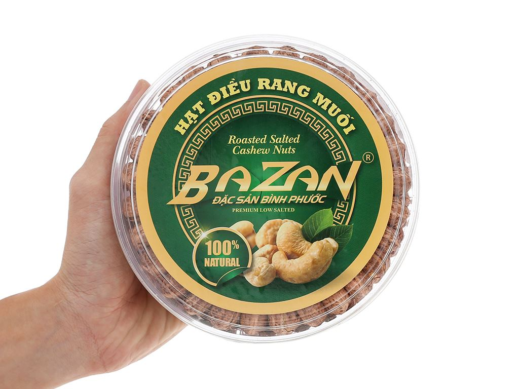 Hạt điều rang muối BaZan hộp tròn 500g 5