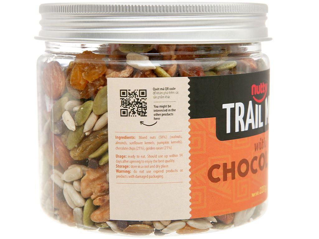 Hỗn hợp hạt vị socola Nutty Trailmix hũ 220g 2