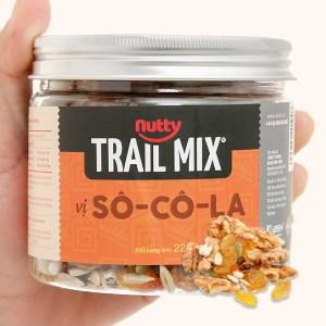 Hỗn hợp hạt vị socola Nutty Trailmix hũ 220g