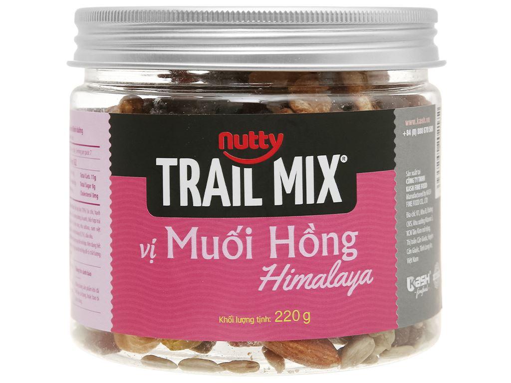 Hạt hỗn hợp vị muối hồng Nutty Trailmix hũ 220g 1