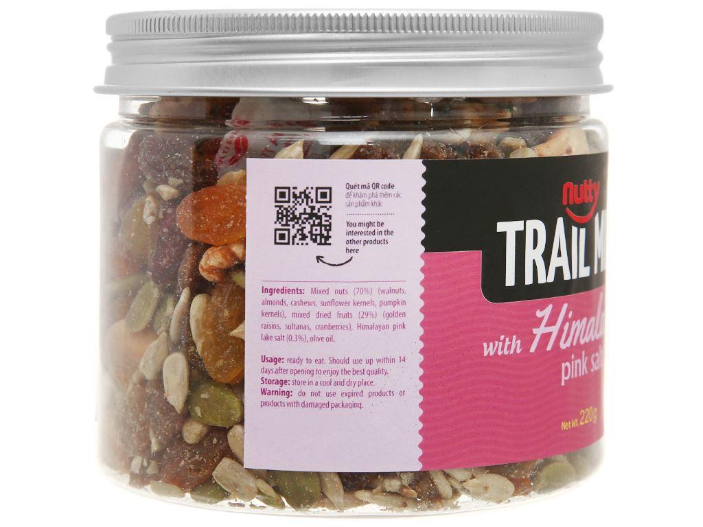 Hạt hỗn hợp vị muối hồng Nutty Trailmix hũ 220g 3