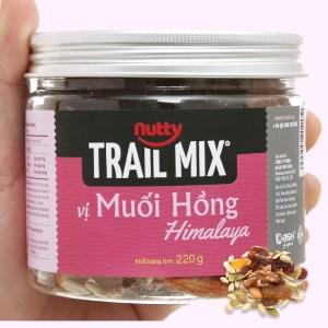 Hạt hỗn hợp vị muối hồng Nutty Trailmix hũ 220g