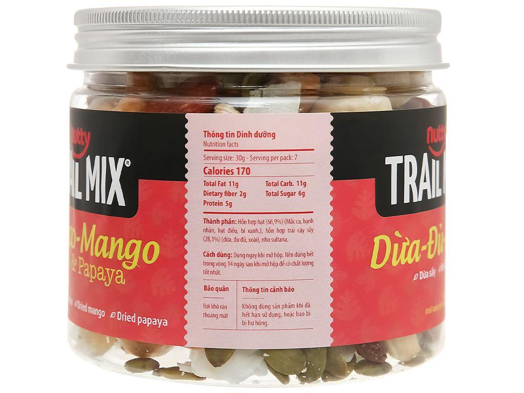 Hạt hỗn hợp - trái cây Trailmix Nutty hũ 220g 2