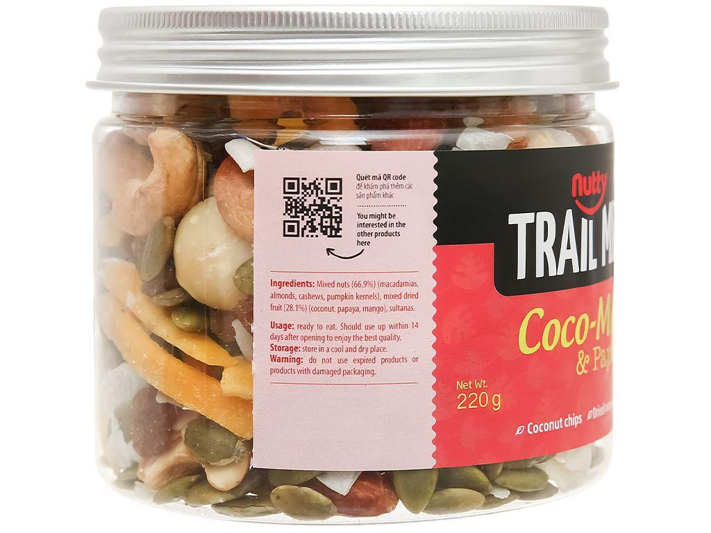 Hạt hỗn hợp - trái cây Trailmix Nutty hũ 220g 3
