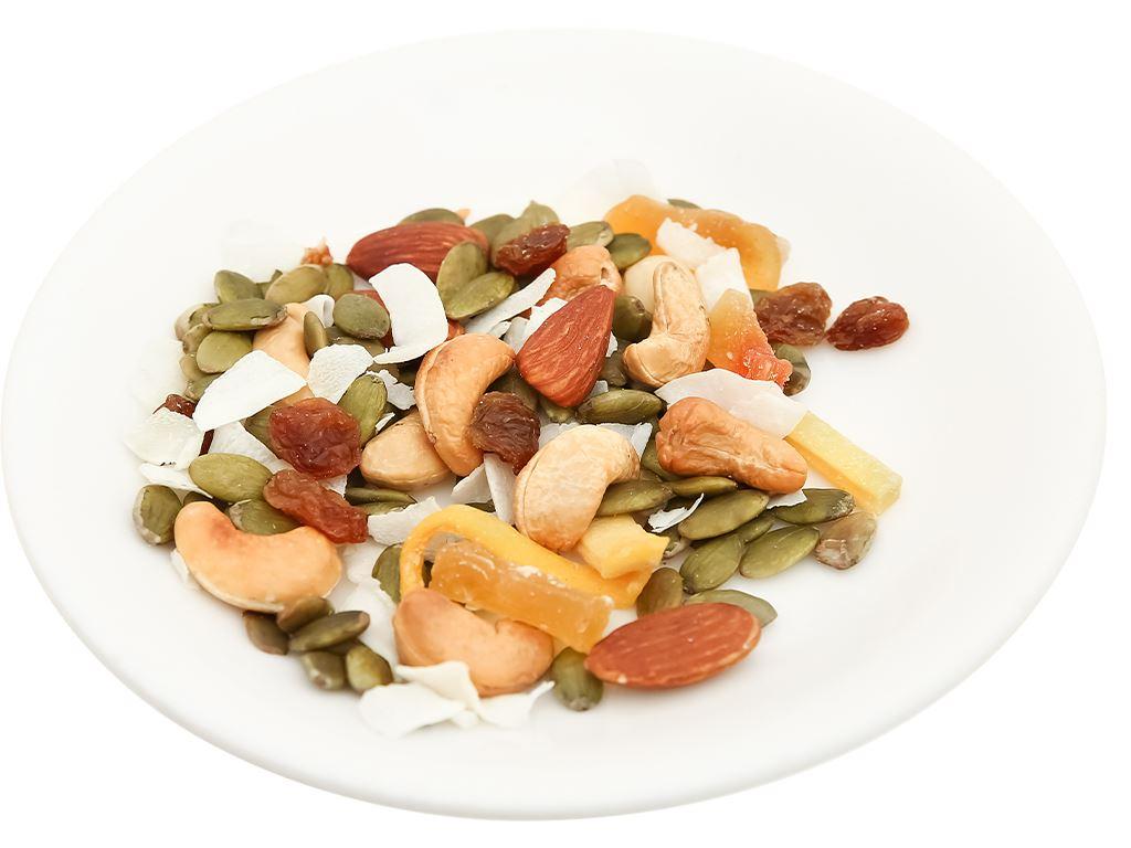 Hạt hỗn hợp - trái cây Trailmix Nutty hũ 220g 6