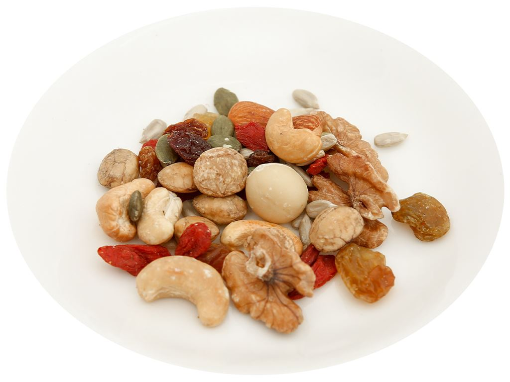 Hạt hỗn hợp - kỷ tử và sachi Trailmix Nutty hũ 220g 6