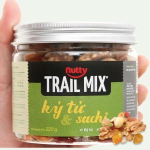 Hạt hỗn hợp - kỷ tử và sachi Trailmix Nutty hũ 220g