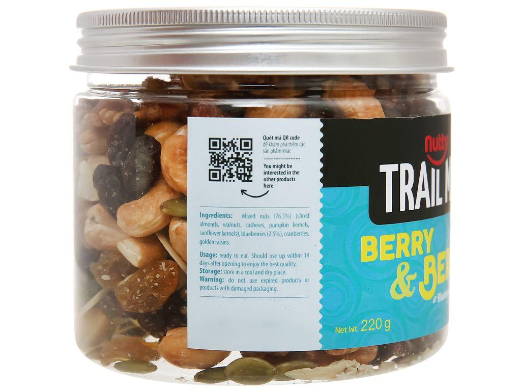 Hạt hỗn hợp - việt quất Trailmix Nutty hũ 220g 2