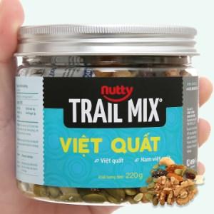 Hạt hỗn hợp - việt quất Trailmix Nutty hũ 220g