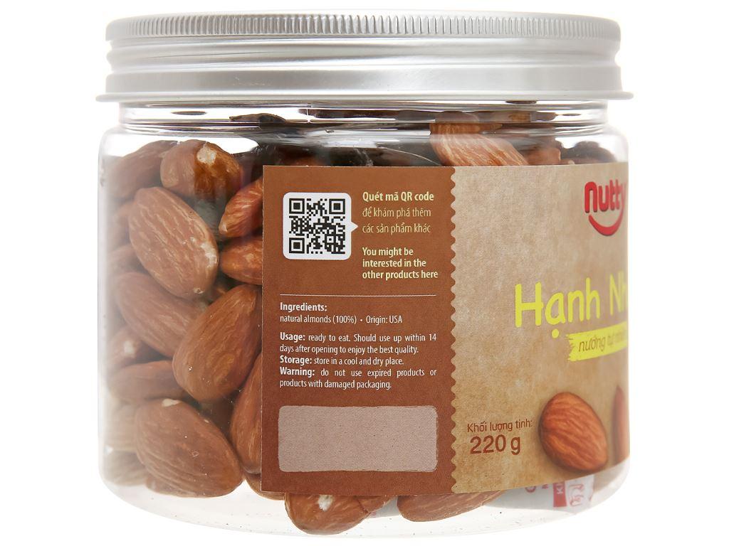 Hạnh nhân nướng tự nhiên Nutty hũ 220g 3