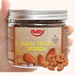 Hạnh nhân nướng tự nhiên Nutty hũ 220g