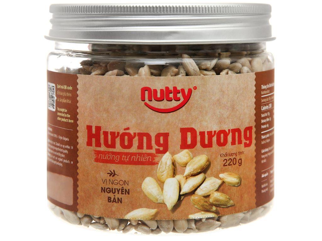 Hướng dương nướng tự nhiên Nutty hũ 220g 1