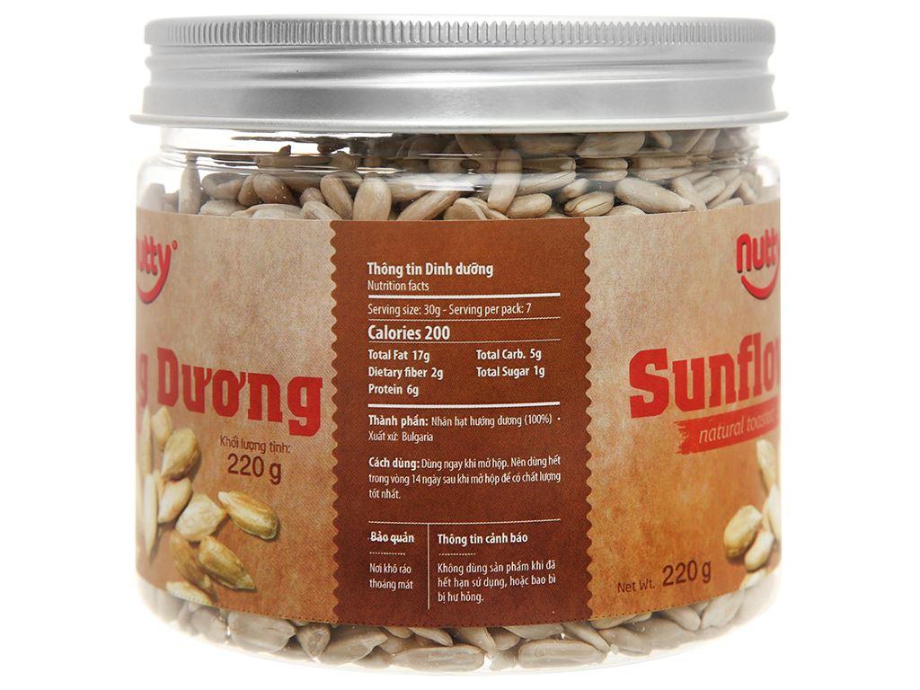 Hướng dương nướng tự nhiên Nutty hũ 220g 2