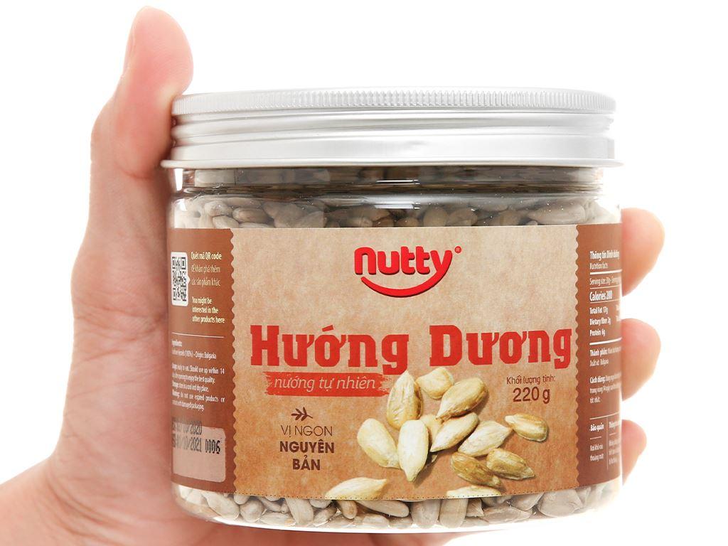 Hướng dương nướng tự nhiên Nutty hũ 220g 5