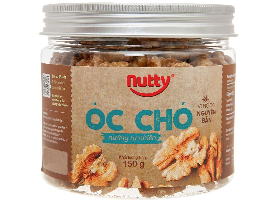 Óc chó nướng tự nhiên Nutty hũ 150g 1