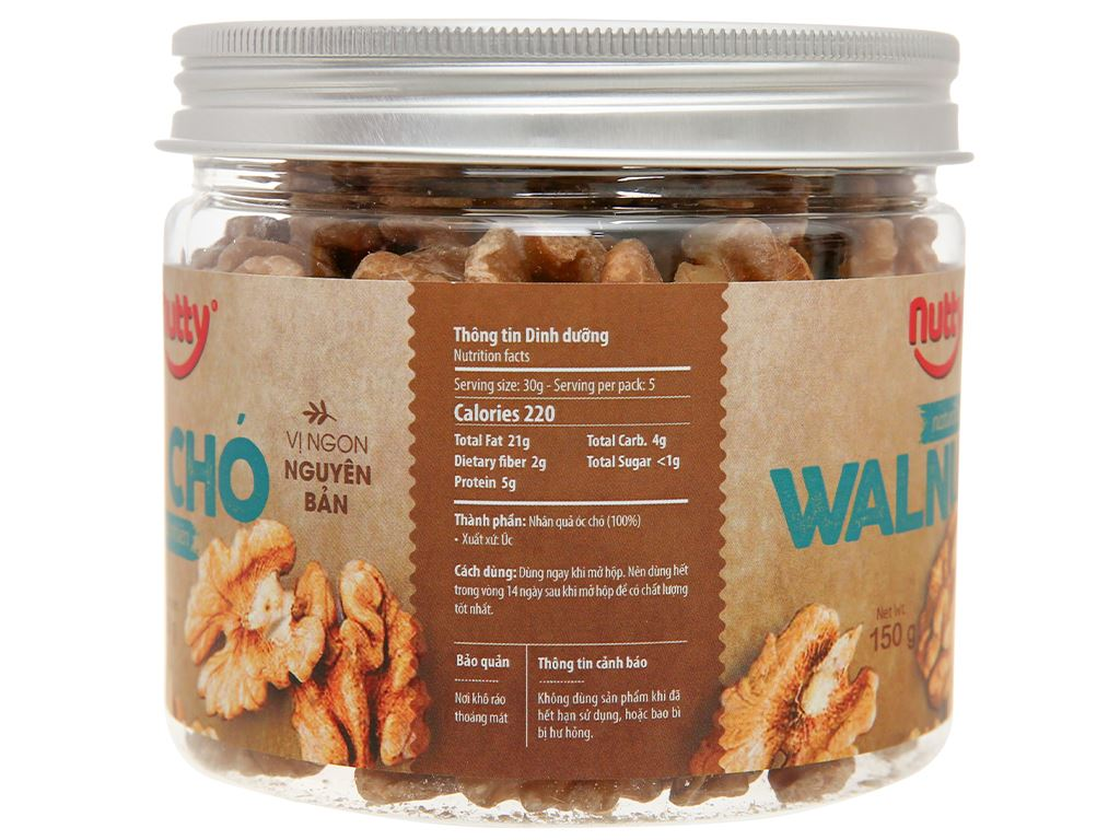 Óc chó nướng tự nhiên Nutty hũ 150g 2