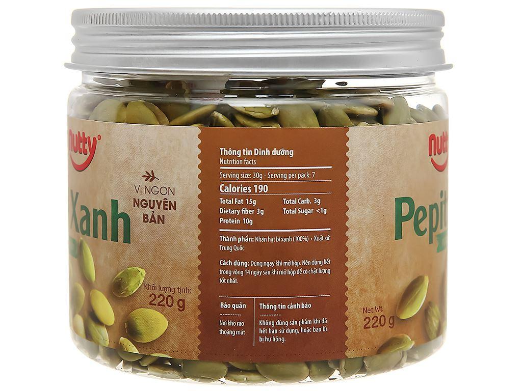 Bí xanh nướng tự nhiên Nutty hũ 220g 2