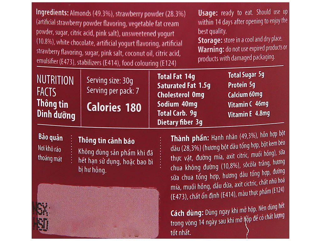 Hạnh nhân vị sữa chua dâu Nutty hũ 220g 3