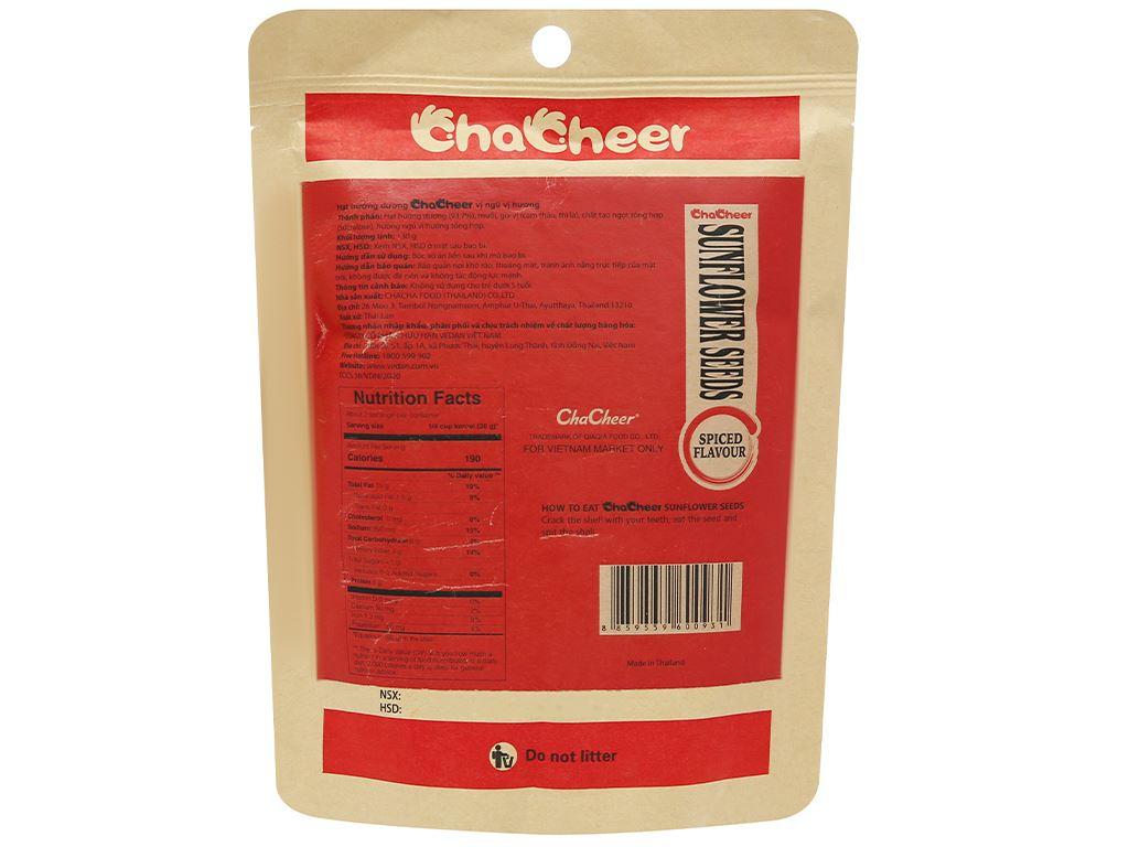 Hạt hướng dương vị ngũ vị hương Chacheer gói 130g 2