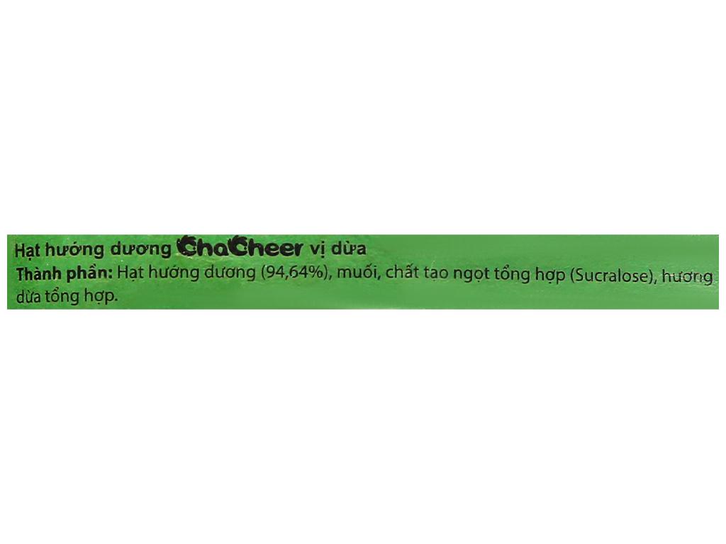 Hạt hướng dương vị dừa Chacheer gói 130g 3