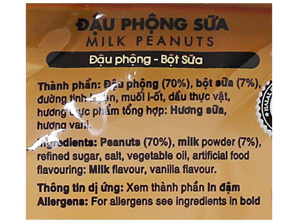 Đậu phộng sữa Amero Tân Tân gói 40g 3