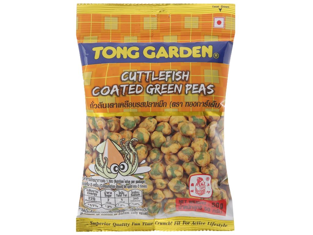 Đậu Hà Lan bao mực Tong Garden gói 50g 2