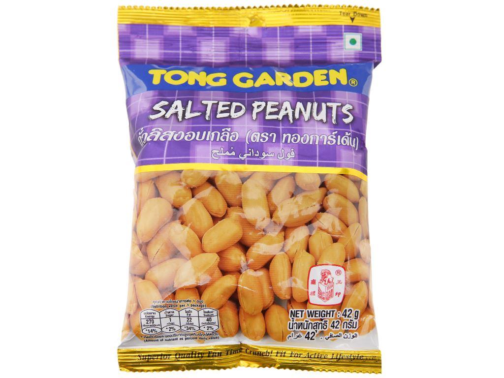 Đậu phộng rang muối Tong Garden gói 42g 1