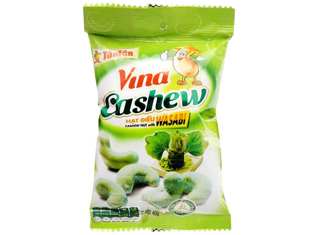 Hạt điều wasabi VinaCashew Tân Tân gói 40g 5