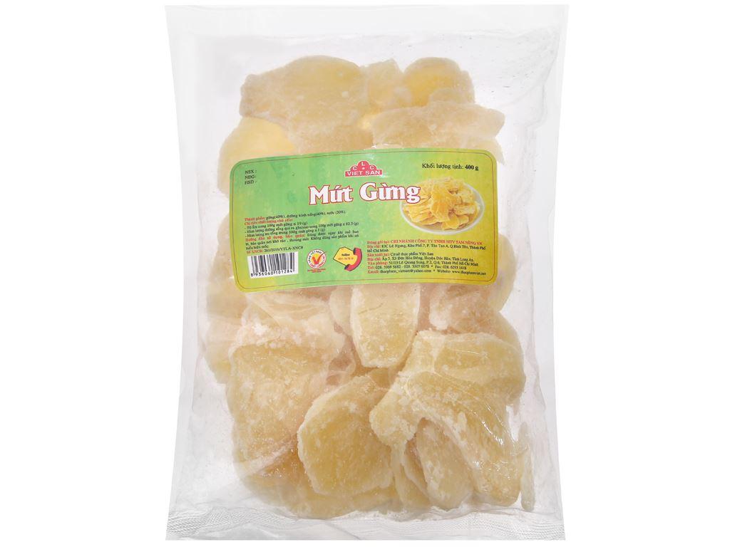 Mứt gừng Việt San gói 400g 1