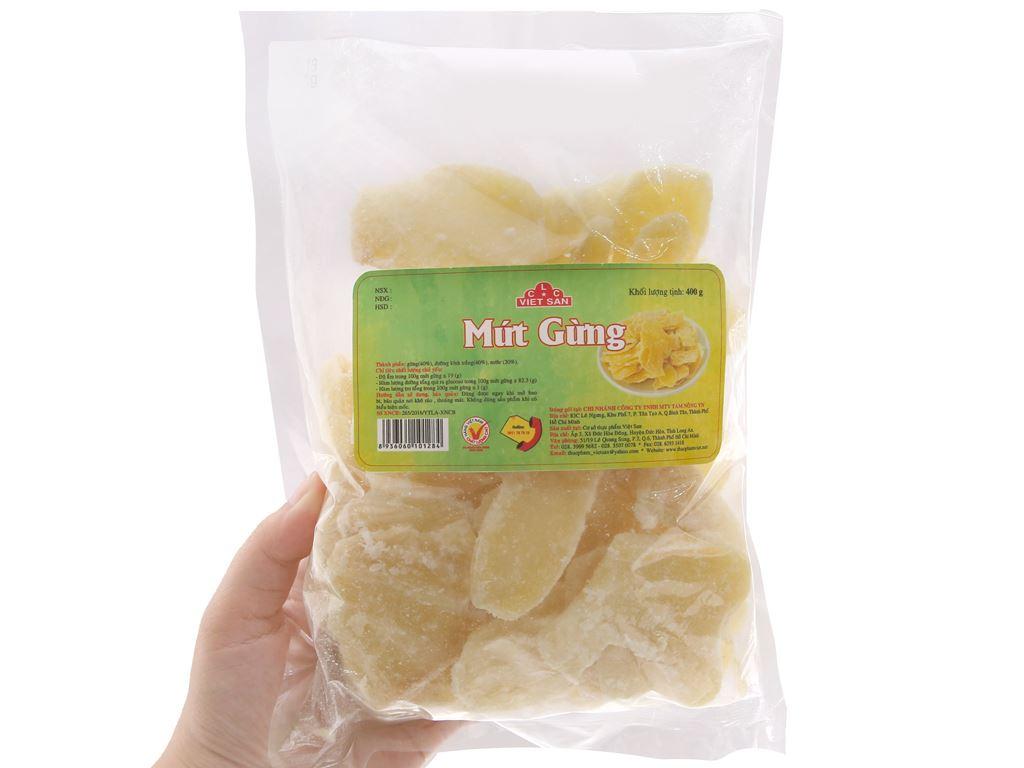 Mứt gừng Việt San gói 400g 3
