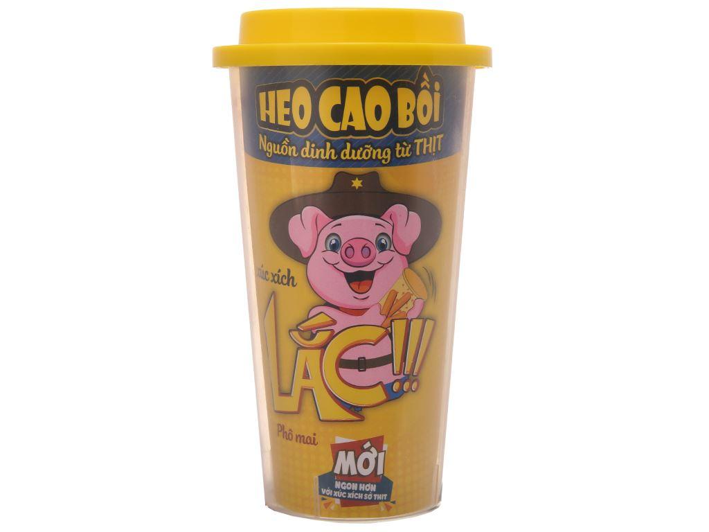 Xúc xích lắc phô mai Heo Cao Bồi ly 60g 2