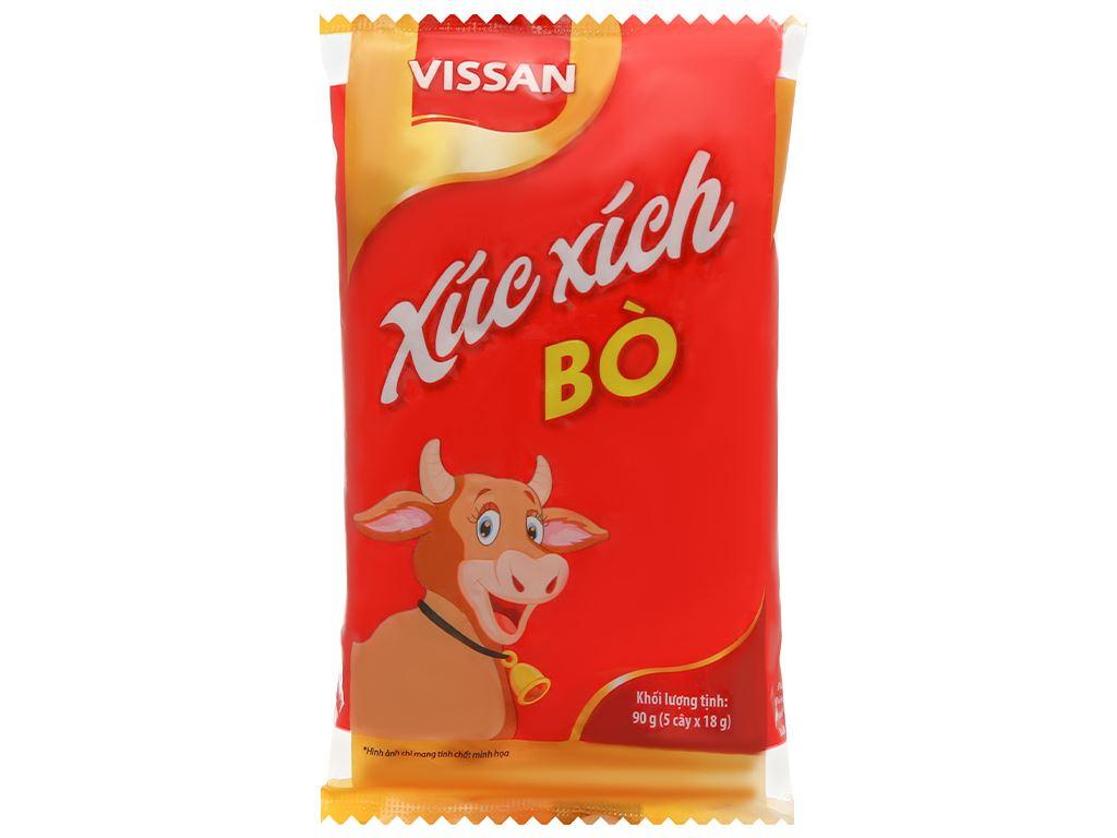 Xúc xích bò tiệt trùng Vissan gói 90g 1