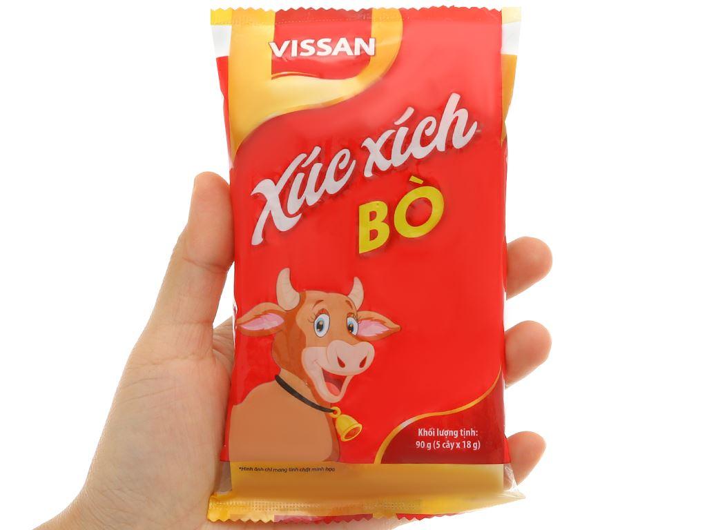 Xúc xích bò tiệt trùng Vissan gói 90g 5