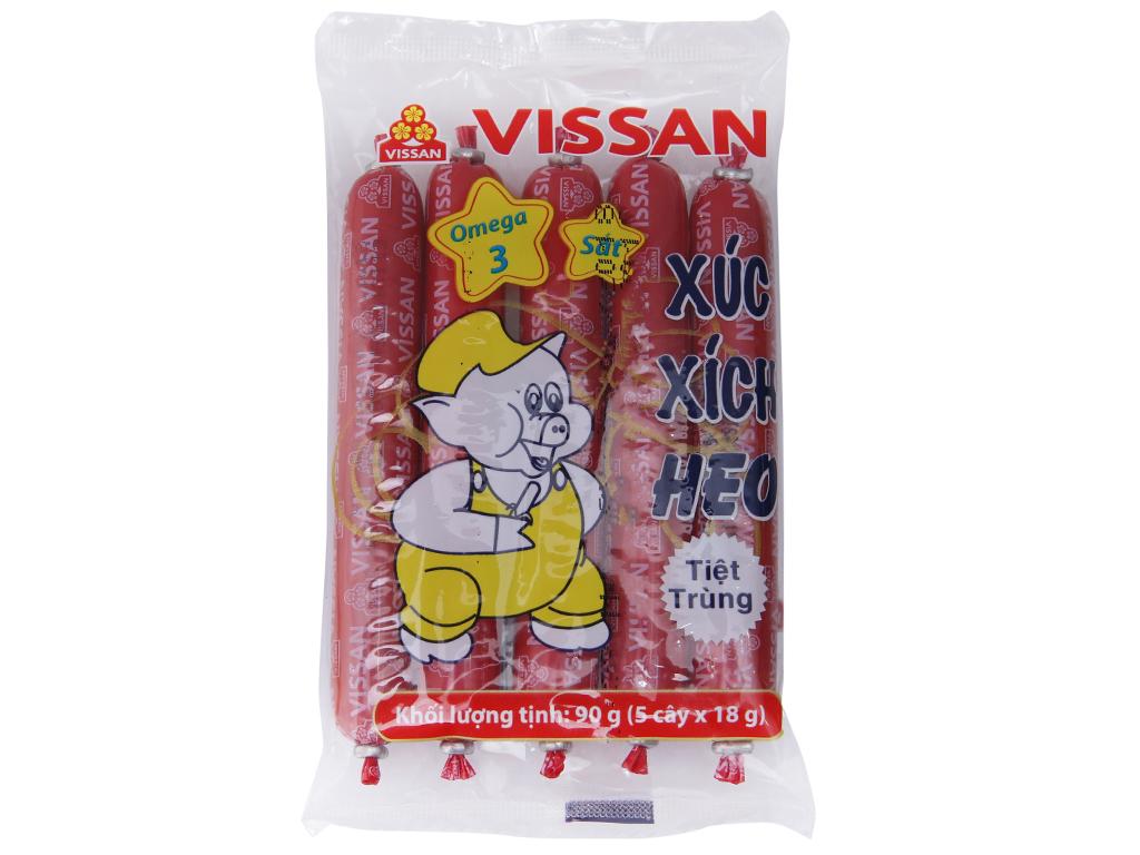 Xúc xích heo tiệt trùng Vissan gói 90g 2