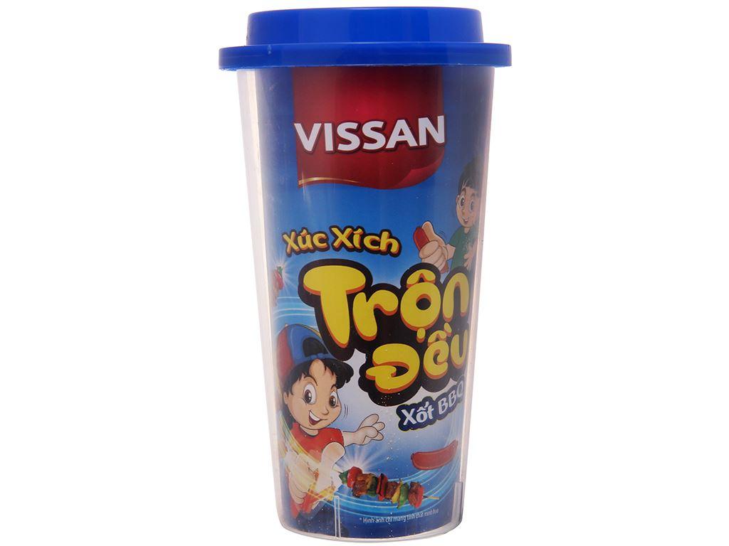 Xúc xích lắc trộn xốt BBQ Vissan ly 55g 2