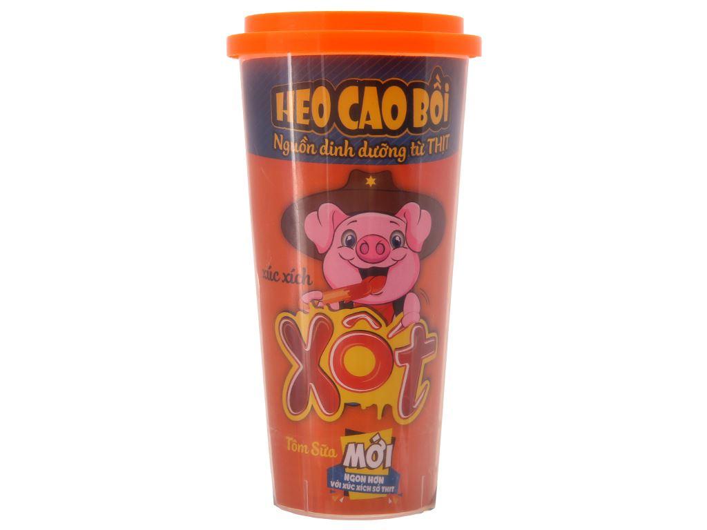 Xúc xích xốt tôm sữa kiểu Hawaii Heo Cao Bồi ly 60g 2
