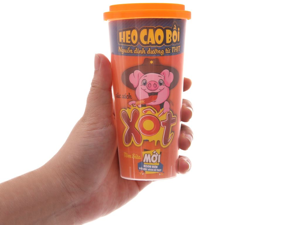Xúc xích xốt tôm sữa kiểu Hawaii Heo Cao Bồi ly 60g 4