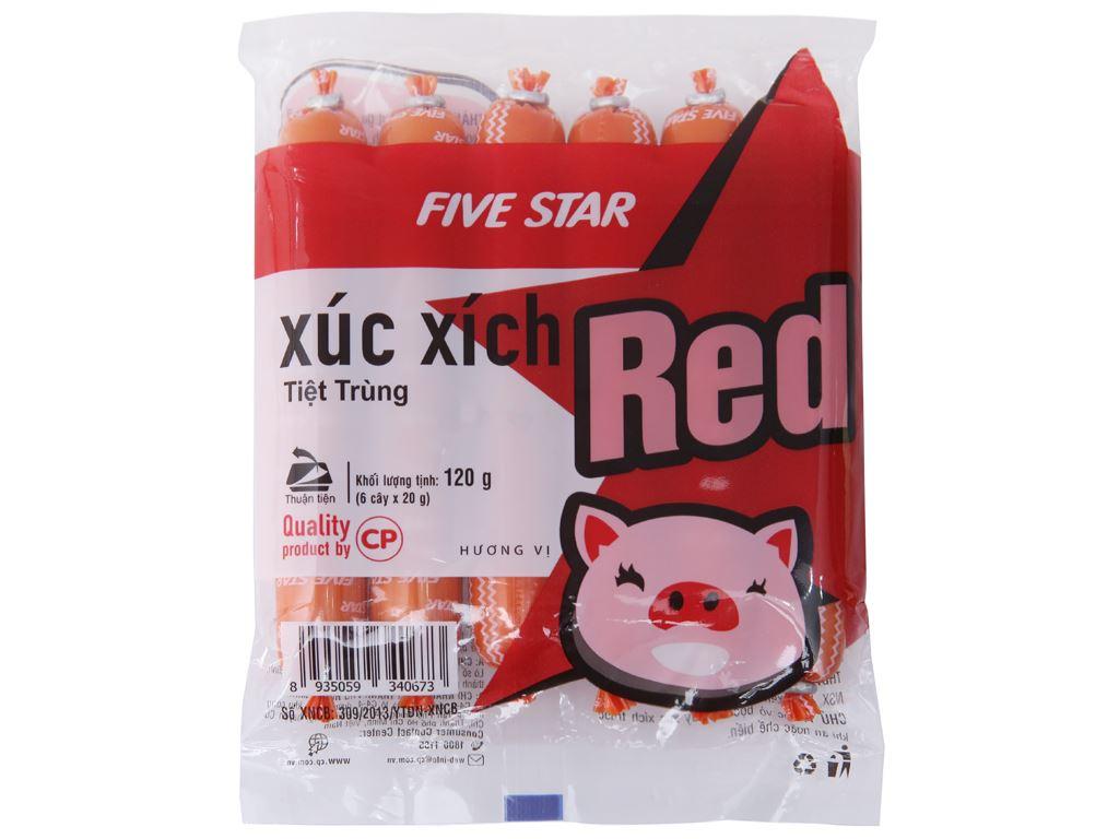 Xúc xích heo tiệt trùng Red Five Star C.P gói 120g 2