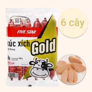 Xúc xích bò tiệt trùng Five Star C.P Gold gói 240g