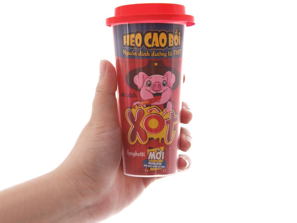Xúc xích xốt spaghetti Heo Cao Bồi ly 60g 3