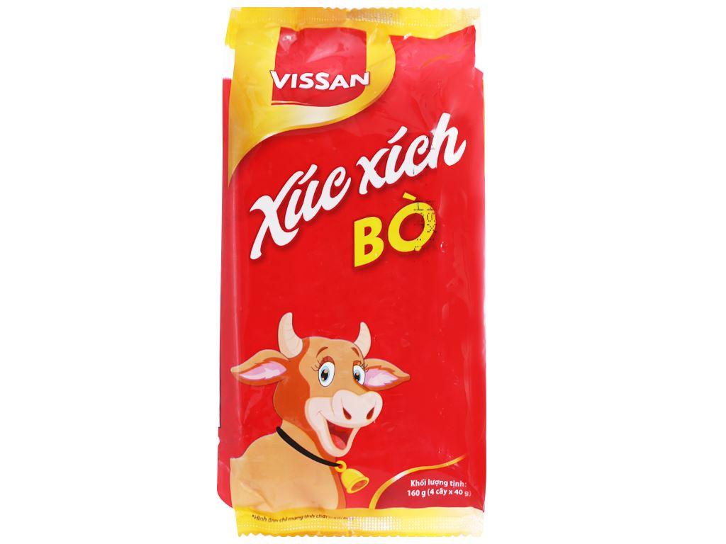 Xúc xích bò tiệt trùng Vissan gói 160g 1