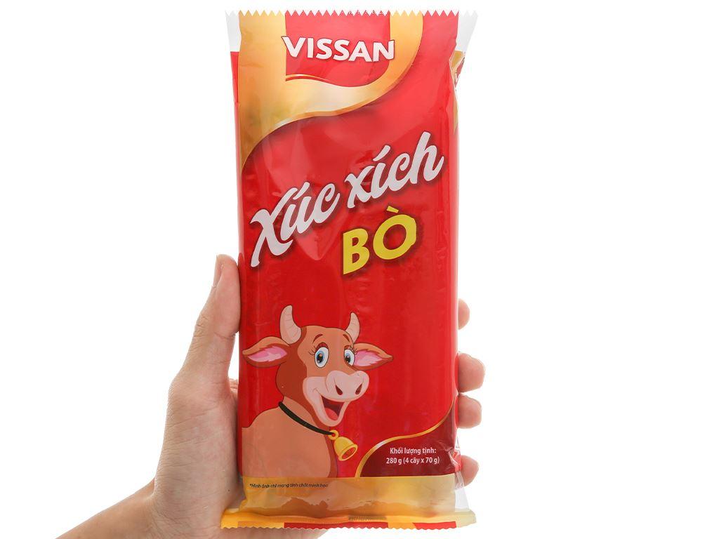 Xúc xích bò tiệt trùng Vissan gói 280g 4