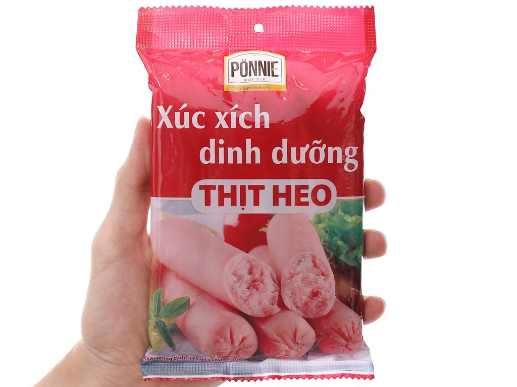 Xúc xích dinh dưỡng thịt heo Ponnie gói 175g 3