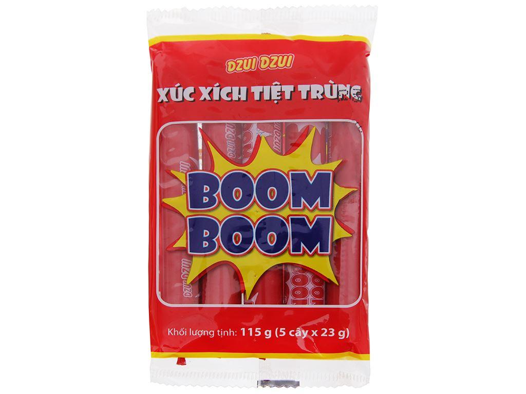 Xúc xích tiệt trùng Boom Boom Vissan gói 115g 1